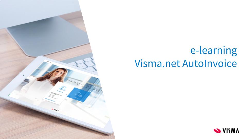 e-Learning Visma.net AutoInvoice