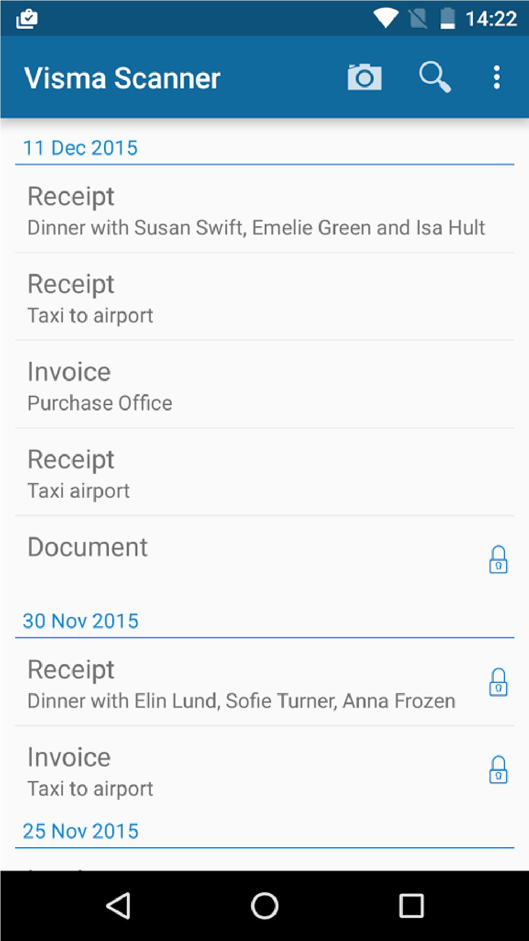 Visma Scanner app screenshot 1